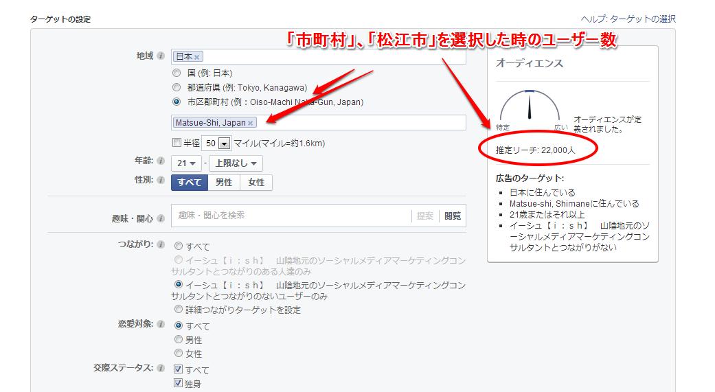 facebookユーザー数 松江市